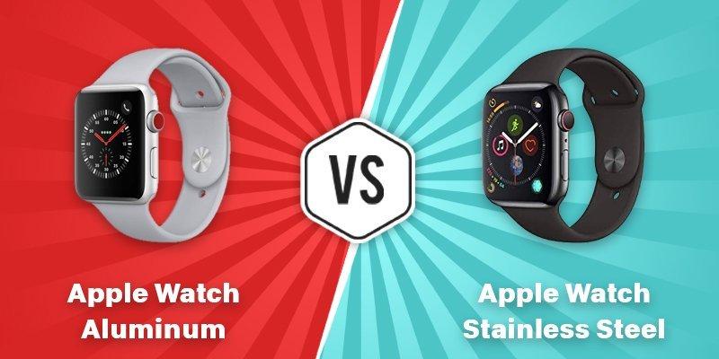 apple watch aluminum vs stainless steel