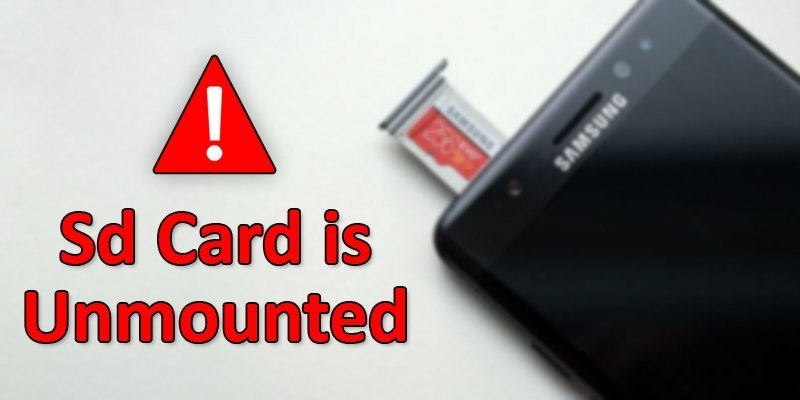 sd card is unmounted