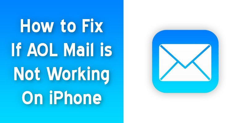 aol mail is not working on iphone