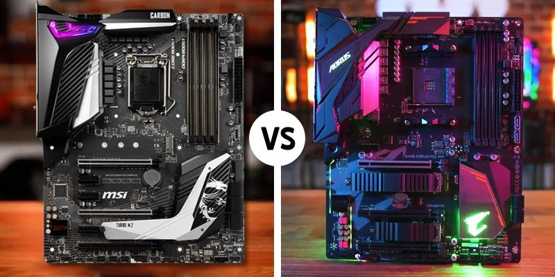 gigabyte vs intel motherboard
