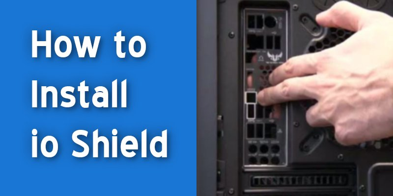 how to install io shield