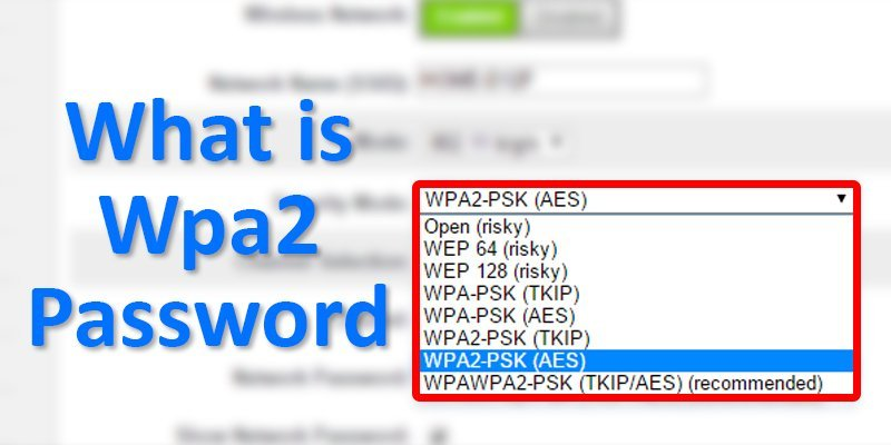 what is wpa2 password